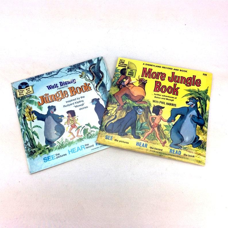Lot 2 The Jungle Book More Read Along Story Vinyl Record Vintage 70s Disney