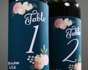 Wedding Wine Bottle Decor Table Numbers