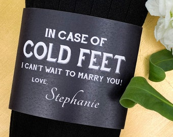 Personalized Cold Feet Socks Groom Gift from Bride on Wedding Day ©