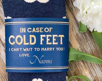 In Case of Cold Feet Socks for Groom ©
