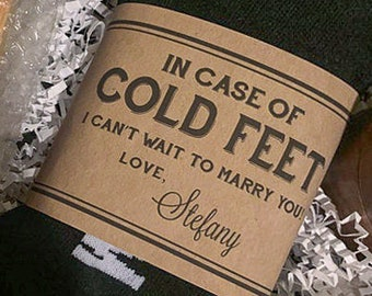 Cold Feet Socks Groom Gift from Bride on Wedding Day ©