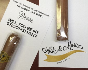 Will you be my groomsman Etsy