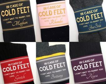 Custom Colors Cold Feet Socks Gift for Groom ©