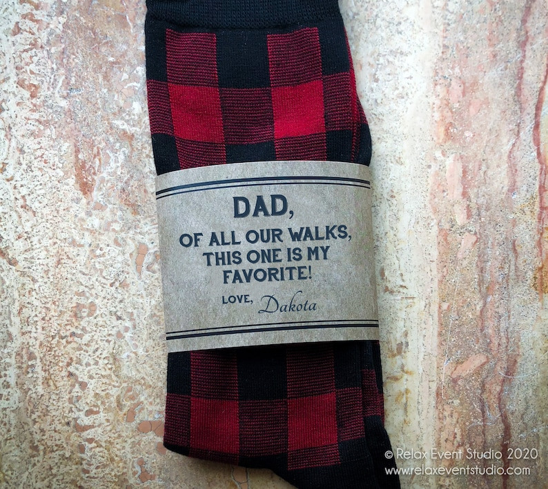 Custom Father of the Bride Socks and Label©  Kraft Paper image 0