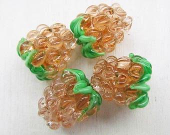 Glass berry beads, lampwork berry bead, 1 pc lampwork bead, lampwork raspberry beads, raspberry glass bead, handmade glass beads, berry bead