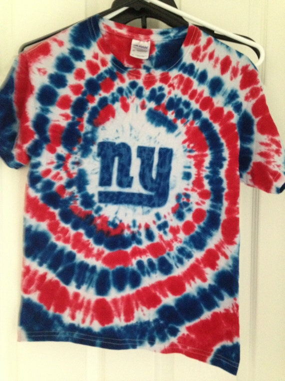 Kids NY Giants Hand Made Tie Dyed Shirt  9d2eaf16603
