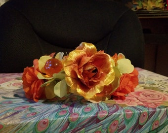 Pumpkin Flower Tiara