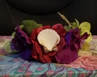 Mermaid Princess Flower Tiara