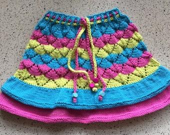 Nederdel med flæse