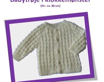 Babytrøje i klokkemønster str. 80 cm