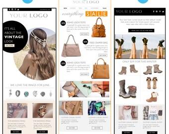 e mail newsletter psd template e commerce newsletter blast etsy