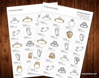 Vertical Line Sheet Wholesale Catalog Template Mini Product Brochure Minimalist Simple Custom