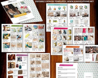 catalog template etsy