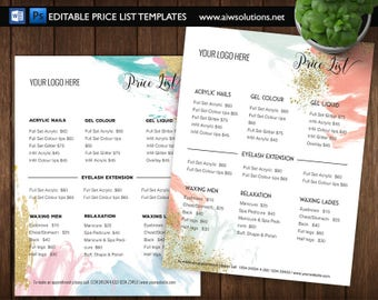Salon Flyer Etsy - Pricing flyer template