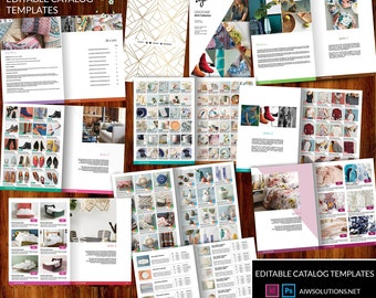 product catalogue brochure catalogs template clean product etsy