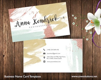 Business cards printable name card template diy business business cards printable name card template photography name card calling cards diy business cards easy to edit and print at home reheart Gallery