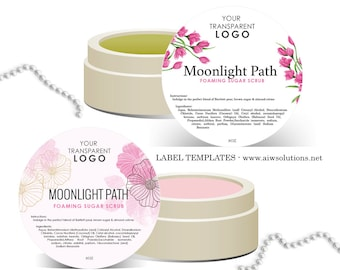 candle label soy wax label label template skin care label etsy