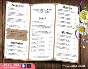 food menu menus design takeout menus us menu restaurant etsy