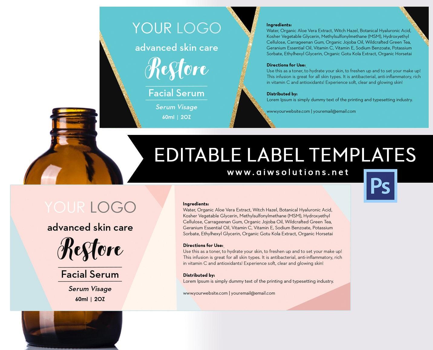 Cosmetics label Scrubs & Bath Label Body Wash Label Bar | Etsy