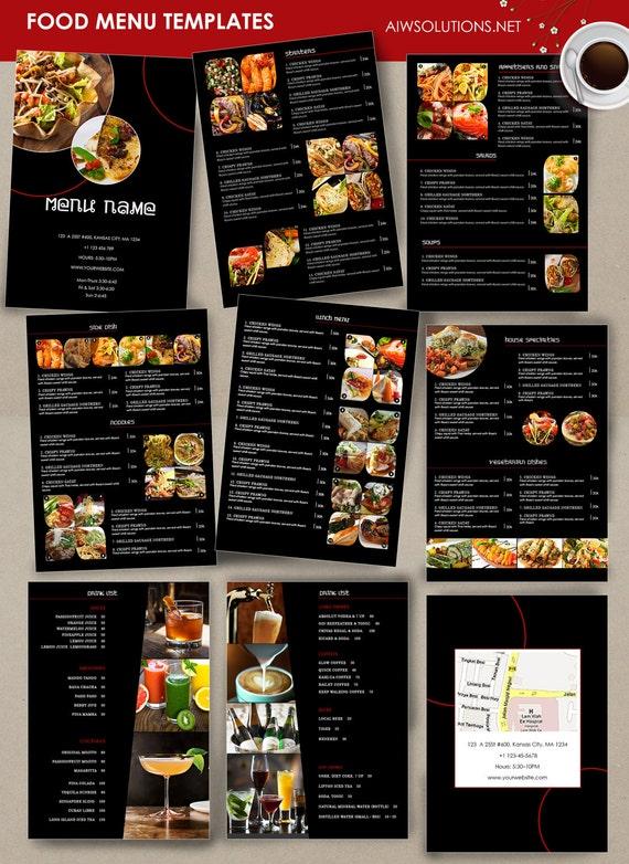 Menü-Vorlage Cocktail-Karte Restaurant Speisekarte | Etsy