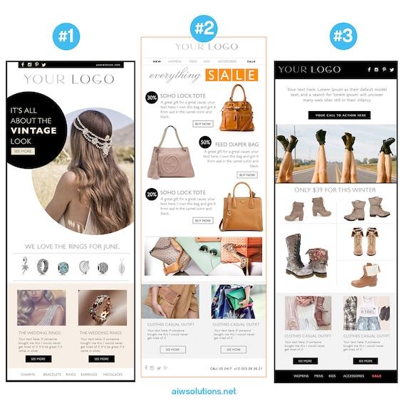 Email newsletter psdhtml template custom e commerce etsy image 0 maxwellsz