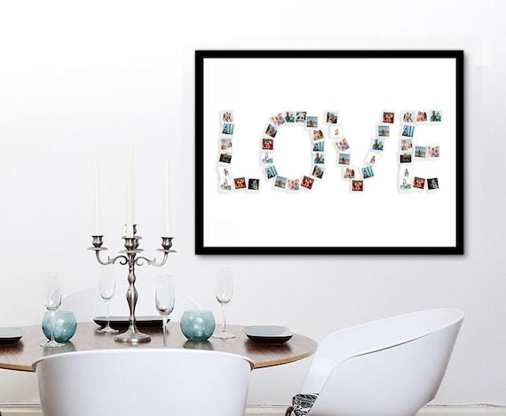 Editable Photo Collage Art Family Anniversary Gift Idea Birthday Gift Idea Love Photo Collage Template Family Photo Collage Template