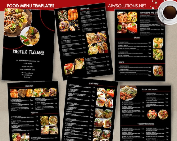 Food Menu Template Cocktail Restaurant Thai