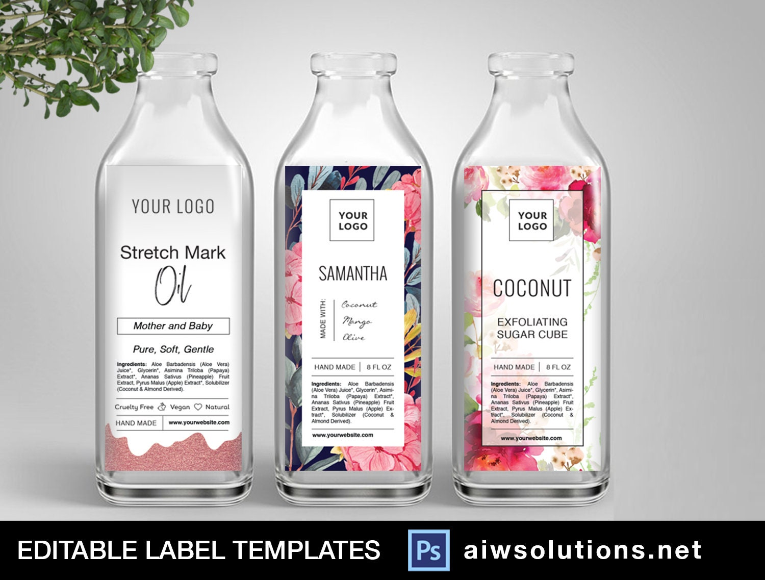 juice bottle label template, packaging label template, cosmetic label,  Fragrance Skin Care label,candle label template, sticker template