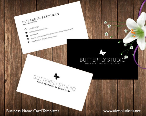 Simple business card template name card template photography etsy image 0 fbccfo Choice Image