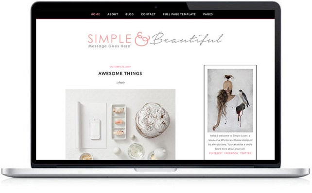 Responsive Wordpress Theme - premade feminine WordPress themes  - MOBILE Wordpress Template - Premade Wordpress Theme - Wordpress Blog Theme