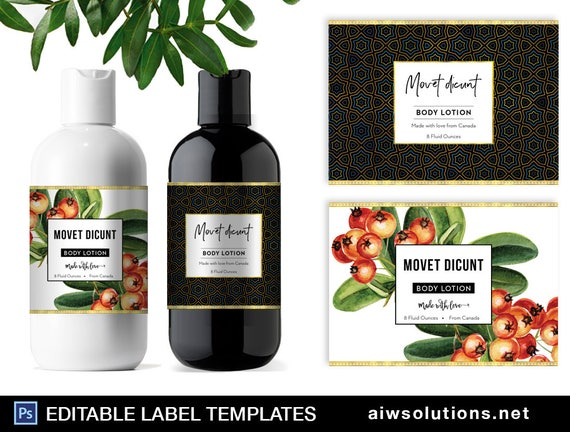 body care label template body and bath label template 8oz etsy