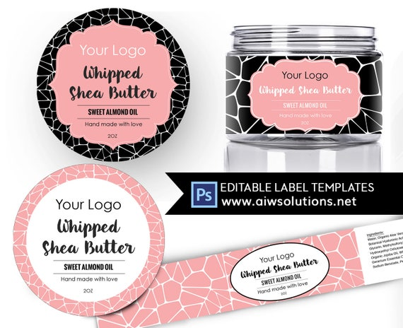 Shea Butter Label Template Body Carrier Oils