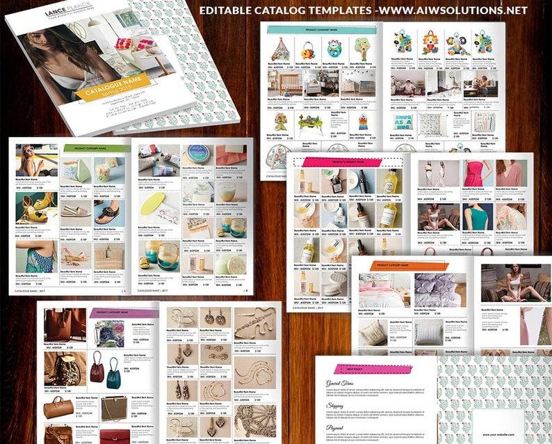Product Lookbook Template Line Sheet Catalog Product Magazine Product Showcase Template Wholesale Catalog Retail Catalog Template