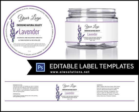 2oz jar label 4oz label 8oz label template skin care label etsy