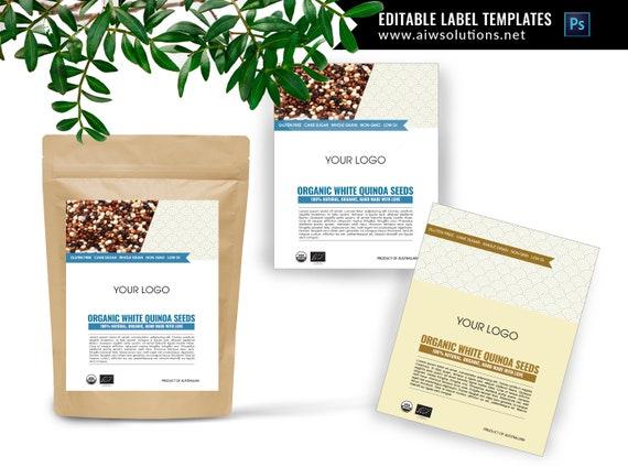 Product label design food label templates editable product labels cometic label templates pouch label template kraft bag label design