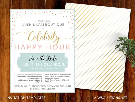 pop up invitations event templatesave the date template etsy