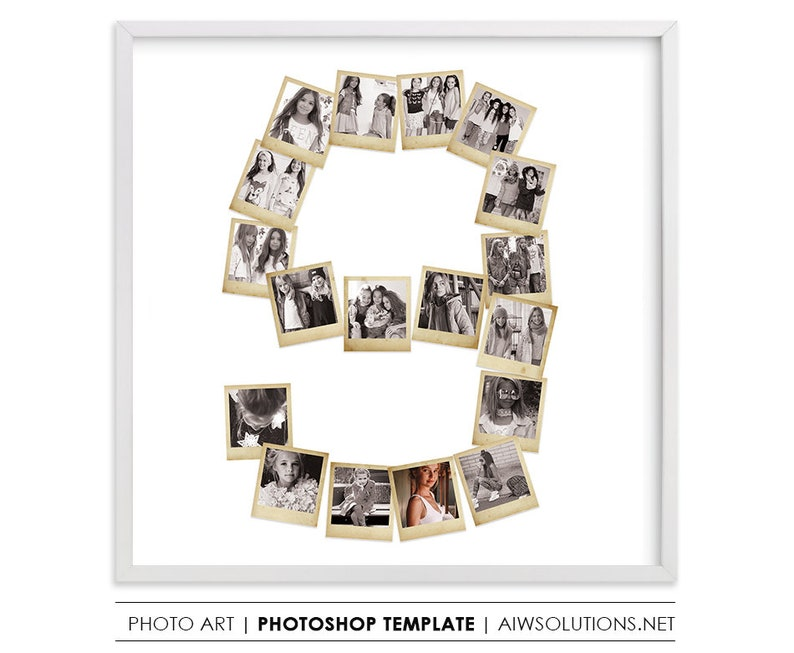 number nine birthday gift, Photography Storyboard, Collage Board Template  ,photos in number 9,Photo Collage Template, photo frame template