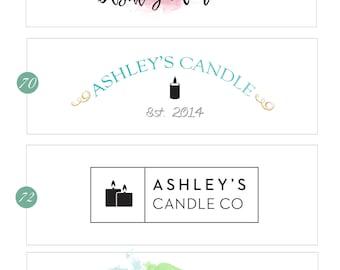 candle Logo design, fashion Logo Branding, Easy Shop banner, Store Header, Blogger Header, Wordpress Header, Shop Banner, Banner design