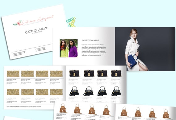 Fashion catalog template product catalog indesign catalogue etsy 50 accmission Gallery