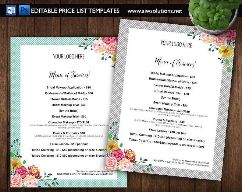 Bridal makeup price list