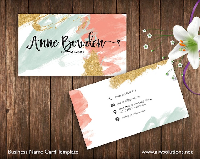 Business cards printable name card template photography name etsy image 0 friedricerecipe Image collections
