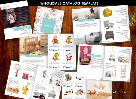 wholesale product catalog template jewellery catalogue etsy