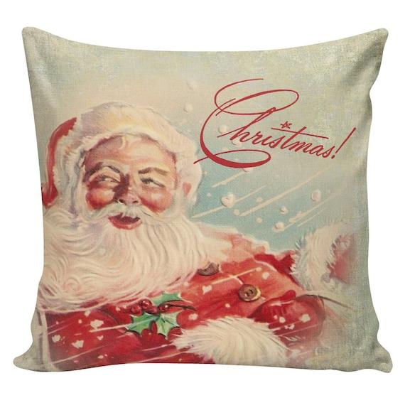Christmas Pillow Cushion Victorian Christmas Santa French style pillow #CC0133 Christmas Country