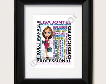 Project Manager Gift, Boss Day, Boss Gift, Business Woman Gift, Project Manager , Birthday Gift