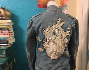 anatomical heart jean jacket