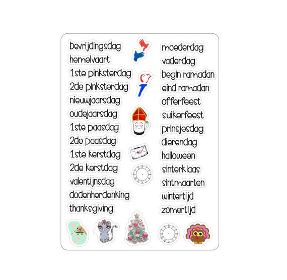 "LovedbyGaby stickers ""holidays"""