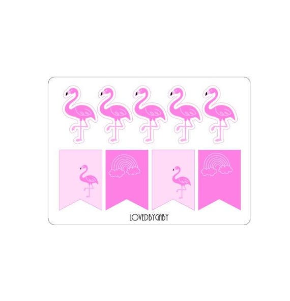 Flamingo stickers