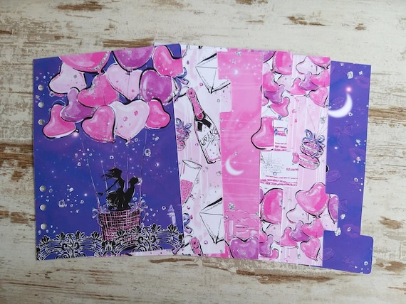"LovedbyGaby A5 dividers ""Fly me to the moon"""