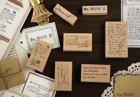 Wooden stamps quotes