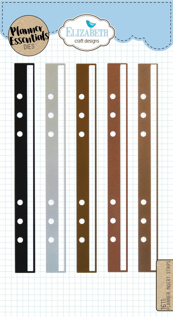 Elizabeth craft designs planner insert strips